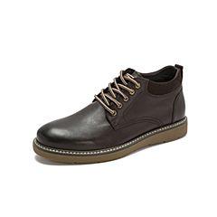 Belle/百丽2018冬季专柜新款打蜡水牛皮革男皮靴B3H51DD8
