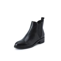 Belle/百丽2018冬季专柜新款牛皮革切尔西靴女短靴T1D1DDD8