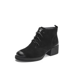 Belle/百丽2018冬专柜新款磨砂羊皮革女短靴S9W1DDD8