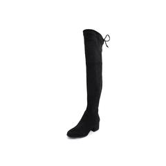 Belle/百丽2018冬季专柜新款绒布女过膝靴/单里S9S1DDC8