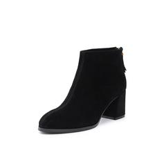 Belle/百丽2018冬季专柜新款羊绒皮革女短靴T3L1DDD8