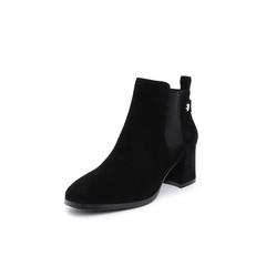Belle/百丽2018冬季专柜新款羊绒皮革女短靴(单里)T3K1DDD8