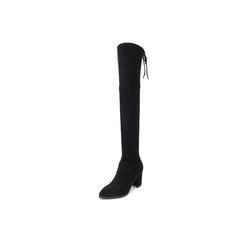 Belle/百丽瘦瘦靴2018冬季专柜新款弹力布女过膝靴T3S1DDC8