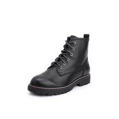 Belle/百丽2018冬季专柜新款牛皮革马丁靴女短靴T3R1DDD8