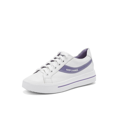 Belle/百丽彩色运动风小白鞋2019春商场同款新牛皮革厚底女休闲板鞋BURB8AM9