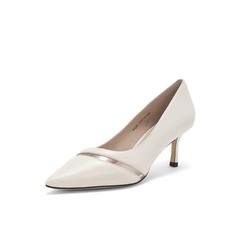 Belle/百丽高跟单鞋2019年春季新商场同款绵羊皮革/胶片女皮鞋BQ201AQ9