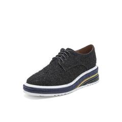 Belle/百丽厚底松糕鞋2019春季商场同款新亮线?#21152;?#20262;风女满帮单鞋BP220AM9