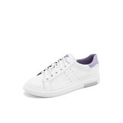 Belle/百丽彩色运动风小白鞋2019春商场同款新牛皮革女休闲平底板鞋BXGF3AM9
