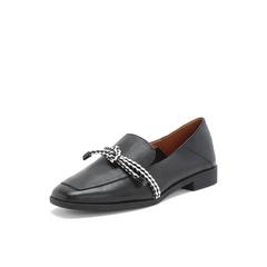 Belle/百丽乐福鞋2019春商场同款新绵羊皮革休闲低跟女单鞋BLNM1AM9