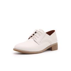 Belle/百丽英伦布洛克风单鞋2019春季新款商场同款牛皮革女皮鞋BP621AM9