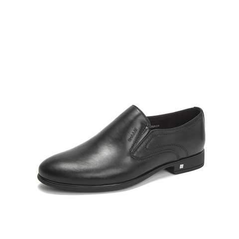 Belle/百麗2019年春商場同款牛皮革男商務正裝皮鞋B5217AM9
