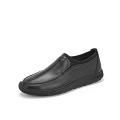 Belle/百丽新款2019春季专柜同款牛皮革/弹力布男皮鞋B1212AM9