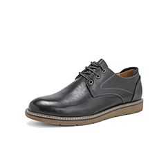 Belle/百丽马丁工装鞋2019春季新商场同款牛皮革休闲男皮鞋B3H28AM9