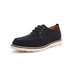 Belle/百丽工装鞋2019春季新商场同款剖层移膜磨?#33453;?#30382;革男皮鞋B3H16AM9