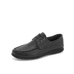 Belle/百丽新款商务休闲鞋2019春季商场同款牛皮革男皮鞋5XS01AM9