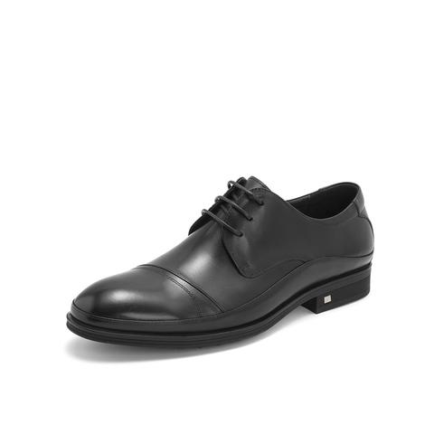 Belle/百麗婚鞋商務正裝鞋2019年春新商場同款牛皮革男皮鞋5XY01AM9