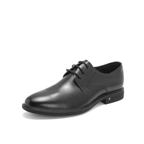 Belle/百丽婚鞋2019年春新商场同款牛皮革男商务正装皮鞋5XZ01AM9