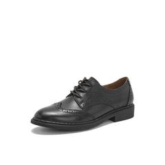 Belle/百丽英伦风布洛克雕花单鞋2019春季商场同款新羊皮革女鞋T4W1DAM9