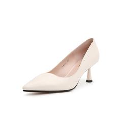 Belle/百丽尖头鞋2019春商场同款新绵羊皮革细高跟女单鞋BRXC6AQ9