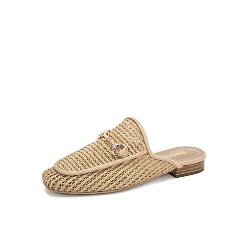 Belle/百麗草編穆勒鞋2019春新編織人造革/羊皮革女涼鞋BRNA3AH9