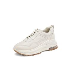 Belle/百丽青春运动风2019年春新商场同款牛皮革女皮松糕厚底休闲鞋BZ122AM9