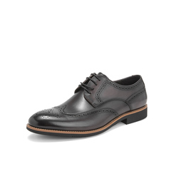 Belle/百丽布洛克鞋2019春季商场同款新牛皮革男皮鞋商务正装德比鞋婚鞋5YT01AM9
