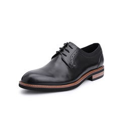 Belle/百丽婚鞋2019年春新商务正?#33453;?#30382;革德比鞋男皮鞋11296AM9