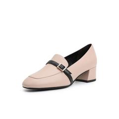 Belle/百丽乐福鞋2019春商场同款新牛皮革女单鞋BZ920AM9