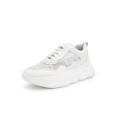 Belle/百丽老爹鞋2019年春新商场同款牛皮革/网布女休闲小白鞋BS727AM9