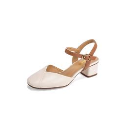 Belle/百麗2019夏新商場同款綿羊皮革女皮涼鞋BO5A4BH9