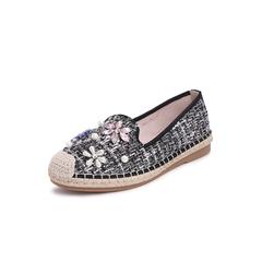 Belle/百丽2019春新渔夫鞋粗花呢编织布织带女单鞋16618AM9