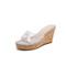 Belle/百麗厚底2019夏新商場同款透明膠片閃鉆女涼鞋T6M1DBT9