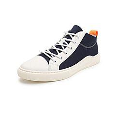 Belle/百丽高帮板鞋2019夏季新款牛皮革/织物男休闲鞋10312BM9