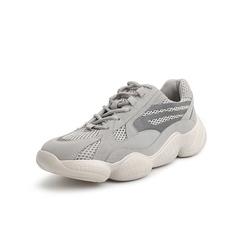 Belle/百丽青春运动风老爹鞋2019春新商场同款牛剖层/网布男休闲鞋B3911AM9