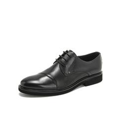 Belle/百丽商务正装2019?#30007;?#29275;皮革系带男皮鞋11257BM9