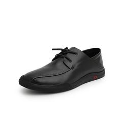 Belle/百丽休闲鞋2019春新款商场同款油蜡牛皮革男皮鞋B4213AM9