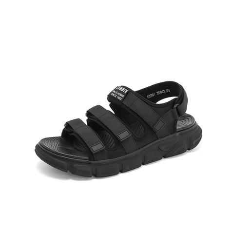 Belle/百丽沙滩鞋2019夏新商场同款魔术贴男平跟休闲凉鞋5ZB01BL9