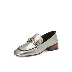Belle/百丽英伦风乐福鞋2019春新款牛皮革女皮鞋16126AQ9