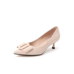 Belle/百丽猫跟鞋单鞋2019春新商场同款绵羊皮革女皮鞋BK5B6AQ9