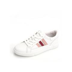 Belle/百丽清新小白鞋2019春新商场同款牛皮革/网布女休闲鞋T7S1DAM9