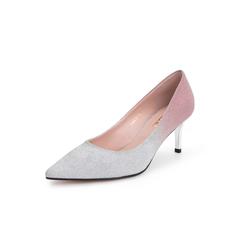 Belle/百丽细高跟单鞋2019春新商场同款渐变?#20937;?#24067;女鞋BRXJ4AQ9