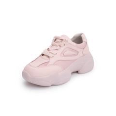 Belle/百丽运动风老爹鞋2019春新商场同款沙丁布/牛皮革女休?#26032;?#28216;鞋T7U1DAM9