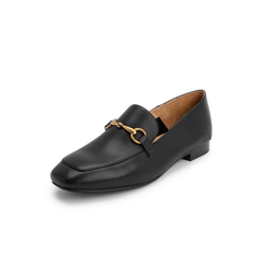 Belle/百丽英伦风乐福鞋2019春新商场同款牛皮革女休闲单鞋BLNJ2AM9