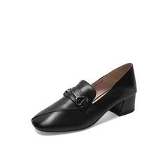 Belle/百麗2019秋新商場同款英倫風牛皮革女皮鞋BZ926CM9