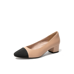 Belle/百麗2019秋新商場同款綿羊皮革女皮鞋3CD01CQ9