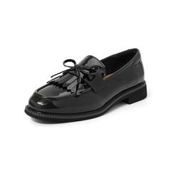Belle/百麗2019秋商場同款新英倫風皮鞋光牛皮革女休閑鞋68011CM9