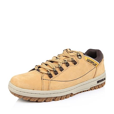 CAT/卡特黄色牛皮/合成革男子户外休闲鞋P711588D3BMA41耐磨防滑 活跃装备(Active)