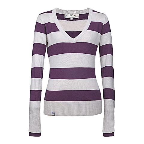 CAT/卡特 专柜同款 女装紫色针织套衫Y-2414005A-144