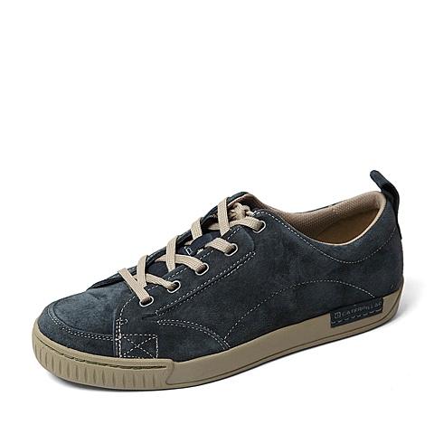 CAT/卡特春季专柜同款深蓝色猪皮革男休闲鞋0075FC71 专柜1