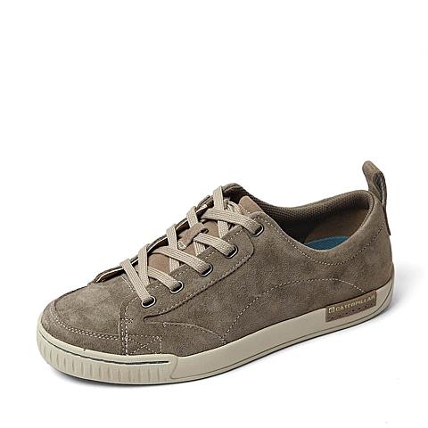 CAT/卡特春季专柜同款灰色猪皮革男休闲鞋0074FC06 专柜1